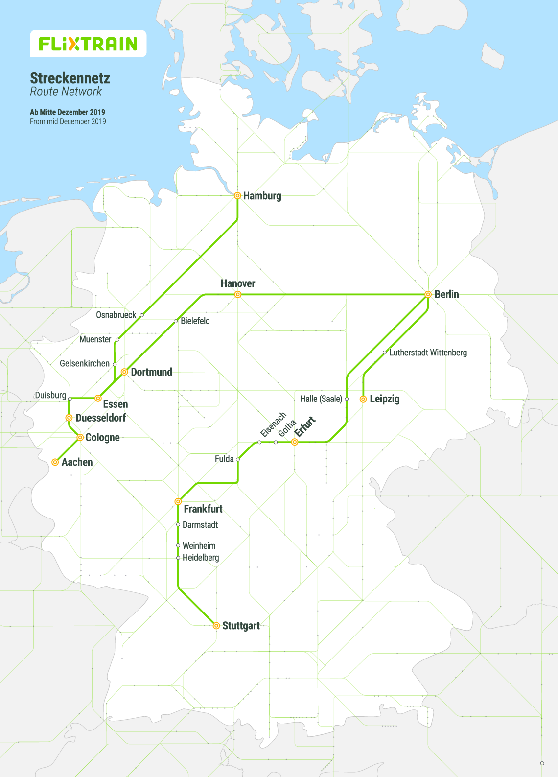 FlixTrain route map