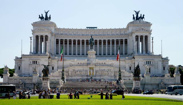 The Vittorio Emanuele monument, considered a symbol of modern post-Risorgimento Rome.