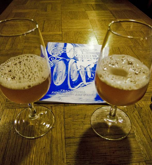 Gueuze tasting at Cantillon brewery