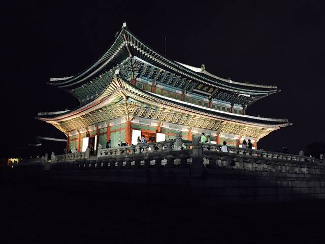 Opening at night of Gyeongbokgung Palace