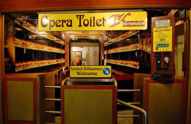 Vienna has it all - and more! Even a musical toilet in the passage under the Opera (singing during usage not compulsory)