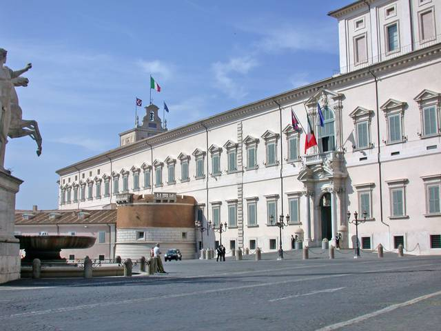 The Quirinal Palace, the official residence of the President of Italy.