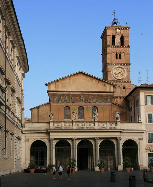 The Santa Maria in Trastevere church, a symbol of early medieval Rome.