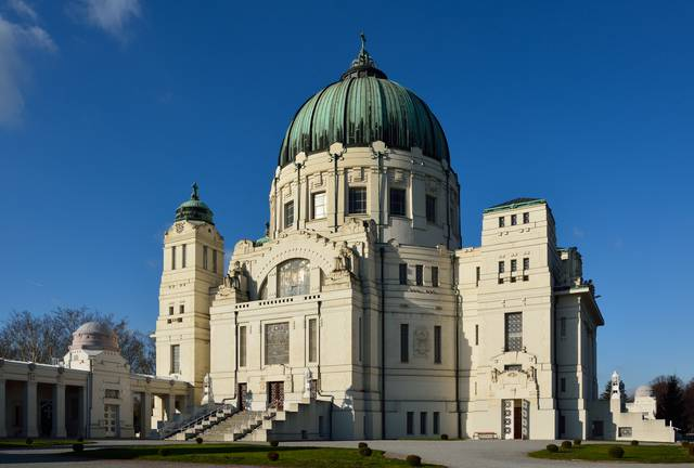 The majestic church in the Zentralfiredhof is a monument to the importance of death in Viennese culture