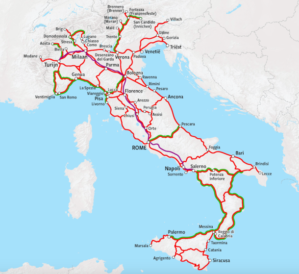Trenitalia Route Map