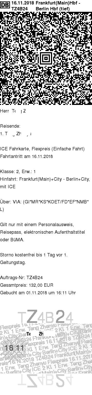DB e-ticket